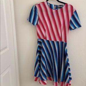 House of Holland Geometric Triangle Print Dress